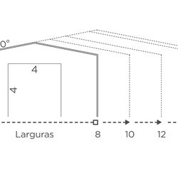 schematic drawing of a delta with wall height of 6m with span sizes and gate sizes