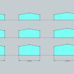 comparison of the section of all delta barns height and width