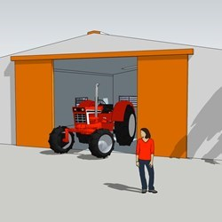 this Delta barn of 200m2 (12x17m) suits the needs of a small fazenda : storage for seeds and for the farm equipment